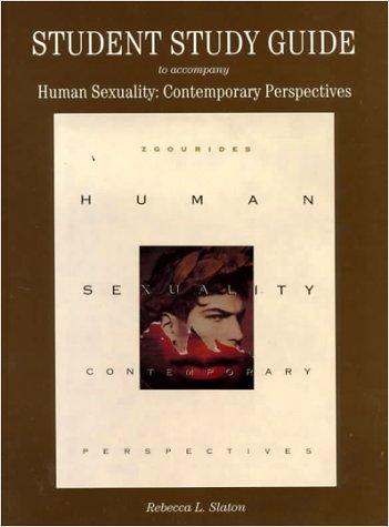 Work Book to Accompany Human Sexuality