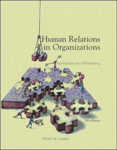 Download Human Relations In Organizations