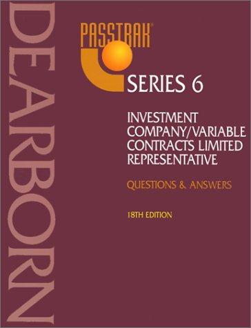 Download Passtrak Series 6 Investment Company/Variable Contracts Limited Representative