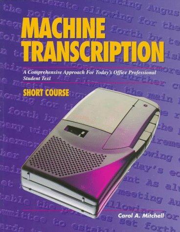 Machine transcription