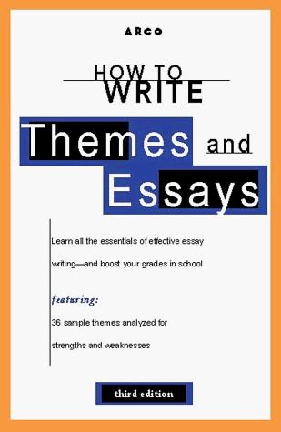 How to write themes & essays