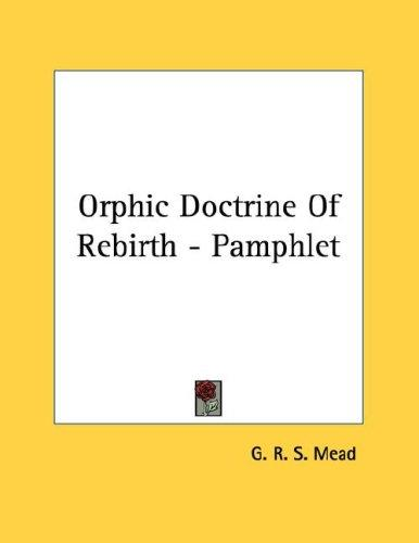 Orphic Doctrine Of Rebirth - Pamphlet (Open Library)