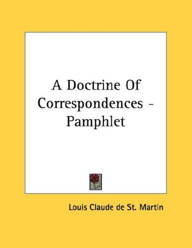 A Doctrine Of Correspondences - Pamphlet (Open Library)
