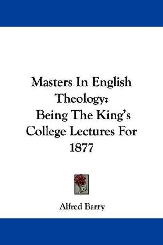 Masters In English Theology