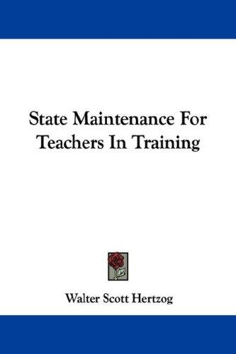 Download State Maintenance For Teachers In Training