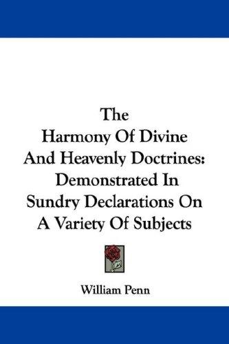 Download The Harmony Of Divine And Heavenly Doctrines