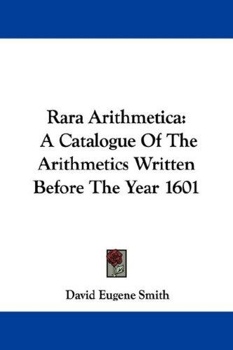 Download Rara Arithmetica