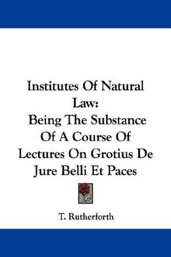 Institutes Of Natural Law