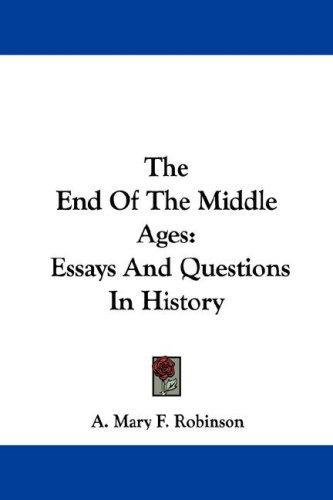 Download The End Of The Middle Ages