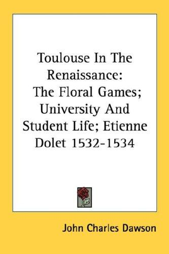 Download Toulouse In The Renaissance