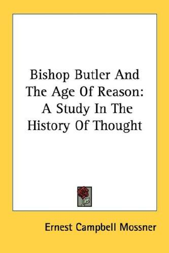 Bishop Butler And The Age Of Reason