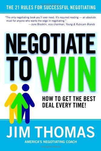 Download Negotiate to Win
