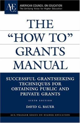 """Download The """"How To"""" Grants Manual"""