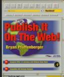 Publish it on the Web!