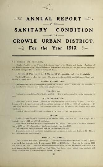 [Report 1913] by Crowle (England). Urban District Council