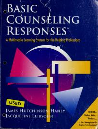 Cover of: Basic Counseling Responses by Hutch Haney, Jacqueline Leibsohn