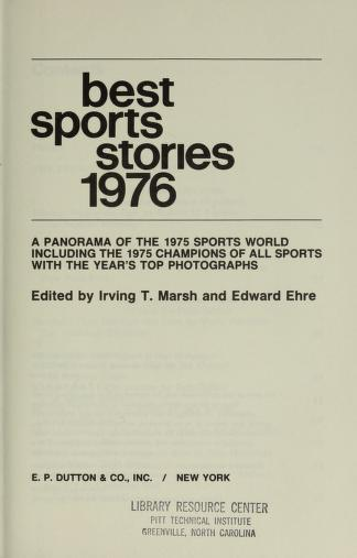 Best Sports Stories 1976 by