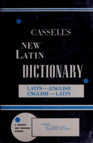 Cover of: Cassell's new Latin dictionary. | by D. P. Simpson.