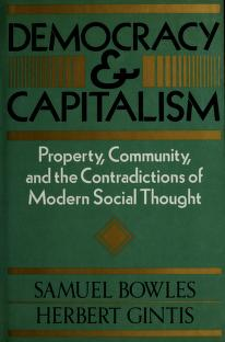 Cover of: Democracy & Capitalism | Bowles