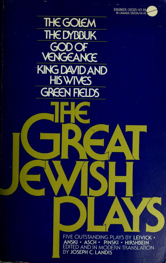 The great Jewish plays by Joseph C. Landis