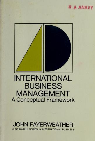 Cover of: International business management   John Fayerweather
