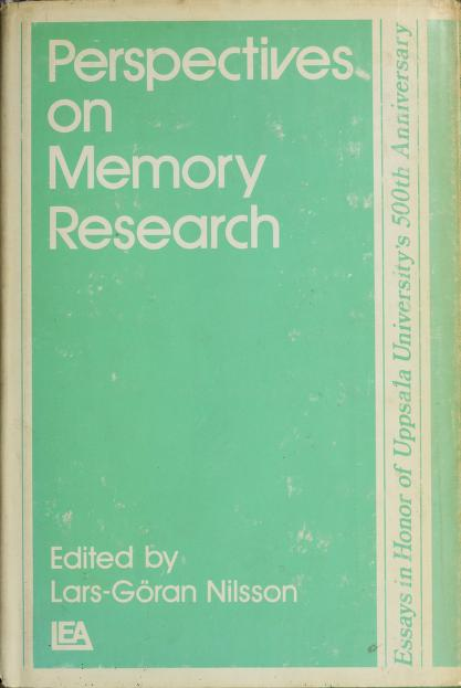 Perspectives on memory research by Conference on Perspectives on Memory Research University of Uppsala 1977.