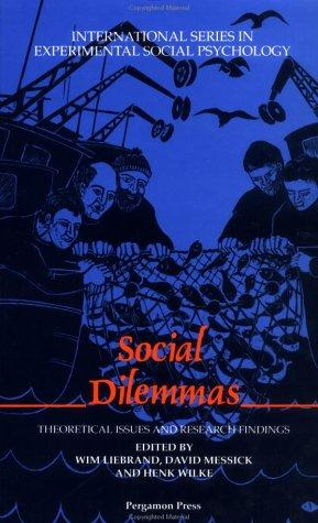 Social Dilemmas by Wim Liebrand