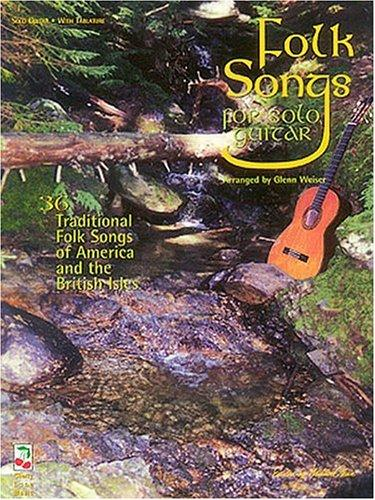 Folk Songs Of America And The British Isles - Guitar Book/cassette Pack by Glenn Weiser