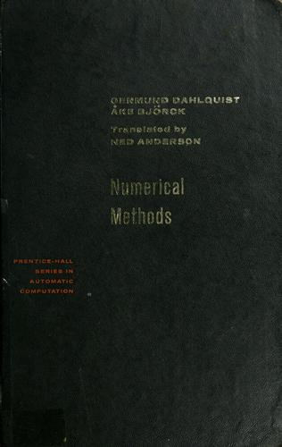 Numerical methods by Germund Dahlquist