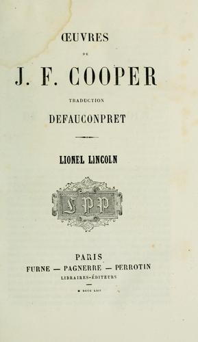 Oeuvres de J.F. Cooper