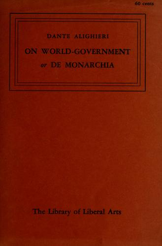 On world-government by Dante Alighieri