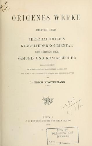 Origenes Werke.
