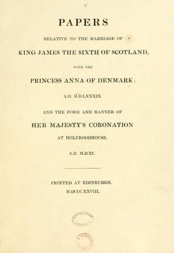 "Papers relative to the Regalia of Scotland. [Including a reprint of ""A true account of the preservation of the Regalia of Scotland .. by Bannatyne Club (Edinburgh, Scotland)"