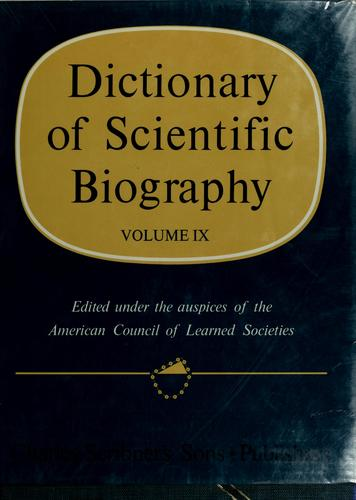 Dictionary of scientific biography by Charles Coulston Gillispie