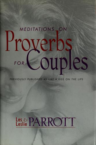 Meditations on Proverbs for couples by Les Parrott