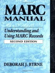 MARC manual: understanding and using MARC records (1998)