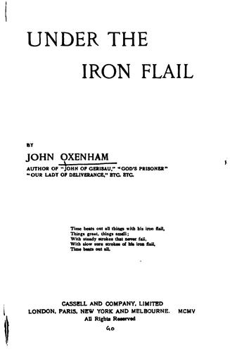 Under the Iron Flail by Oxenham, John