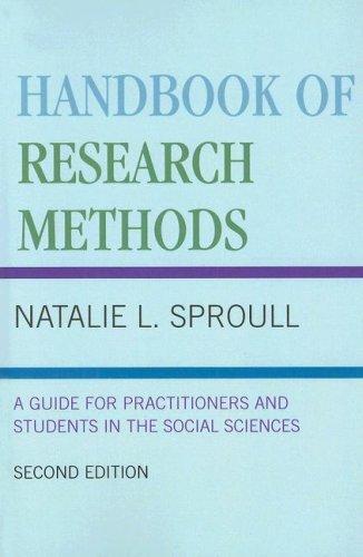 Handbook of Research Methods