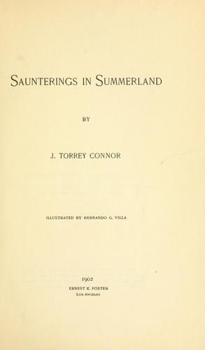 Saunterings in Summerland by J. Torrey Connor