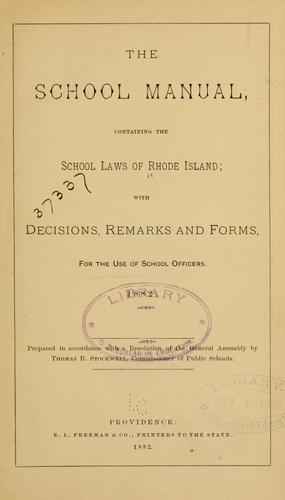 The school manual