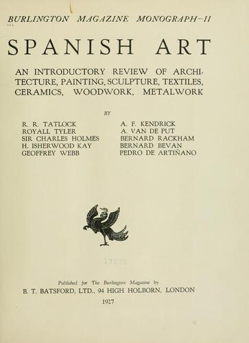 Spanish art by R. R. Tatlock