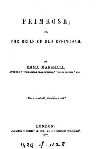 Primrose; or, The bells of old Effingham by Emma Marshall