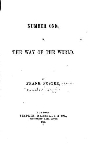 Number One; Or, The Way of the World by Daniel Puseley