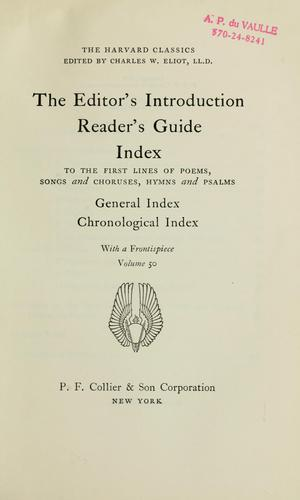 The editor's introduction; reader's guide by Charles William Eliot