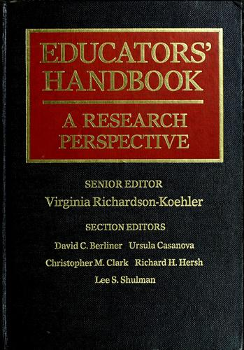 Educators' Handbook by Virginia Richardson-Koehler