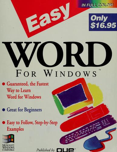 Easy Word for Windows by Shelley O'Hara