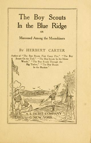 The Boy Scouts in the Blue Ridge by Carter, H. R.