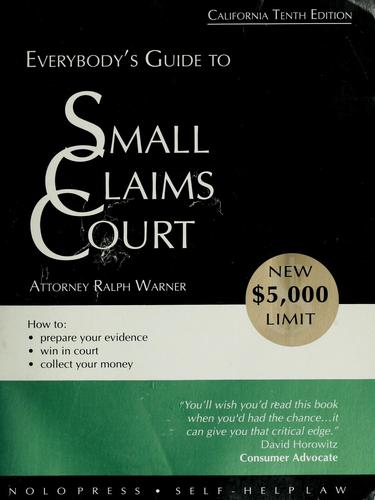 Everybody's small claims court by Ralph E. Warner