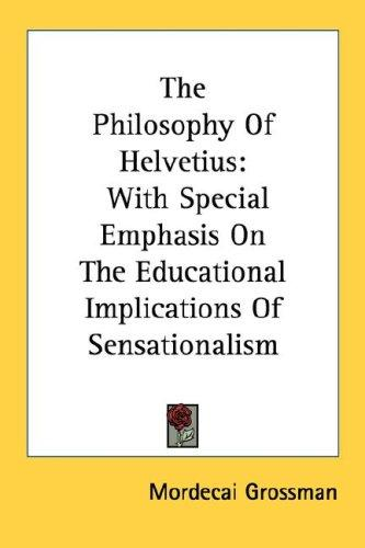 The Philosophy Of Helvetius