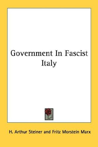 Government In Fascist Italy
